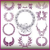 Vector set of laurel wreaths. — Stock Vector