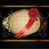 Vector decorative ornamental background with golden elements. — Stockvektor