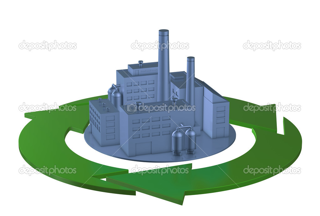 Clean environment factory concept. 3D image — Stock Photo #11170874