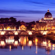 River Tiber in Rome - Italy - Stock Photo