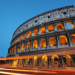 Colosseum at night, Rome - Italy - Stock Photo
