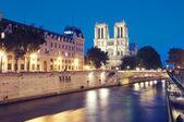 巴黎圣母院、 巴黎-法国 — 图库照片
