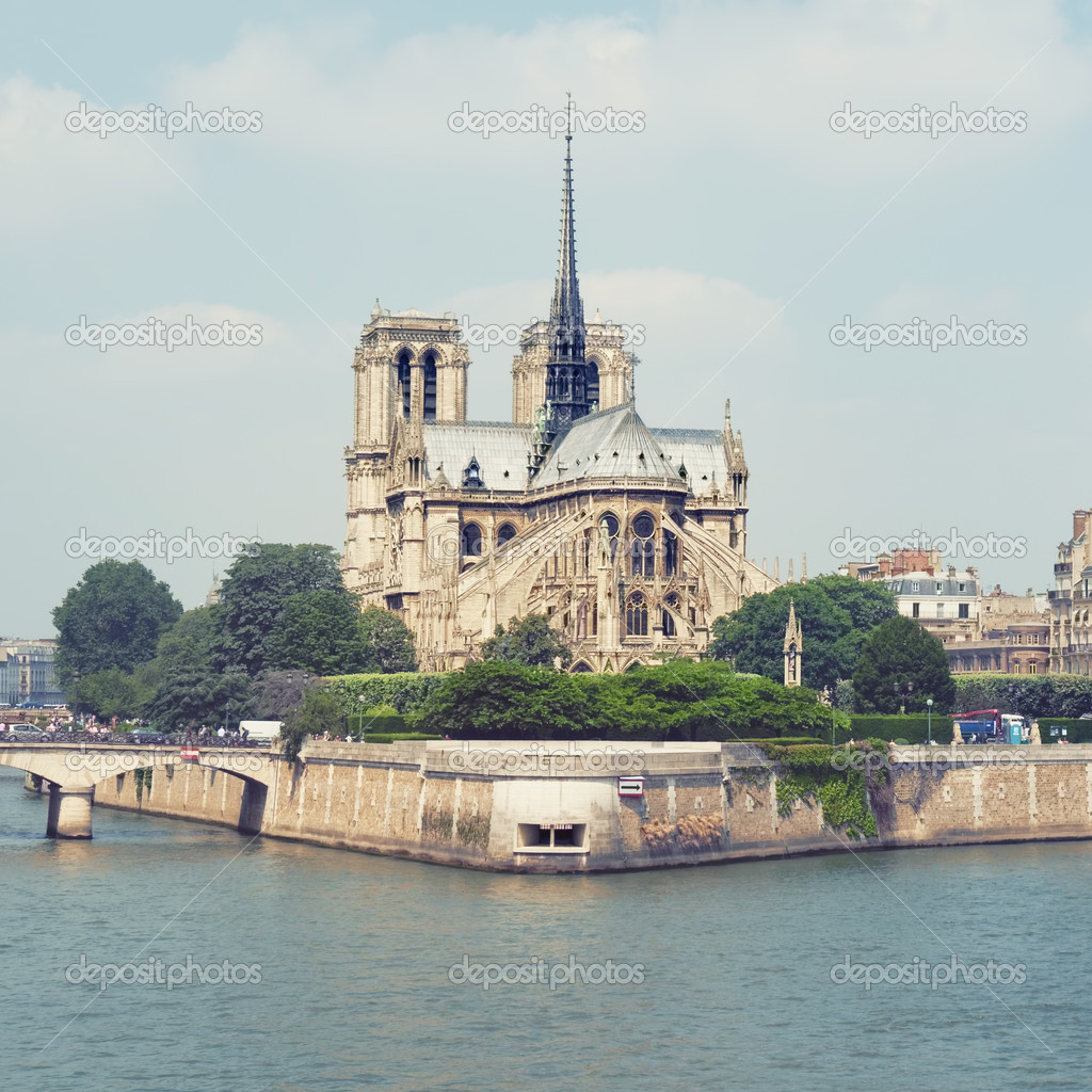 Notre Dame and Seine River. — Stock Photo #12788928