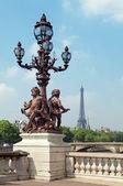Pont Alexandre III & Eiffel Tower, Paris - France. — Stock Photo