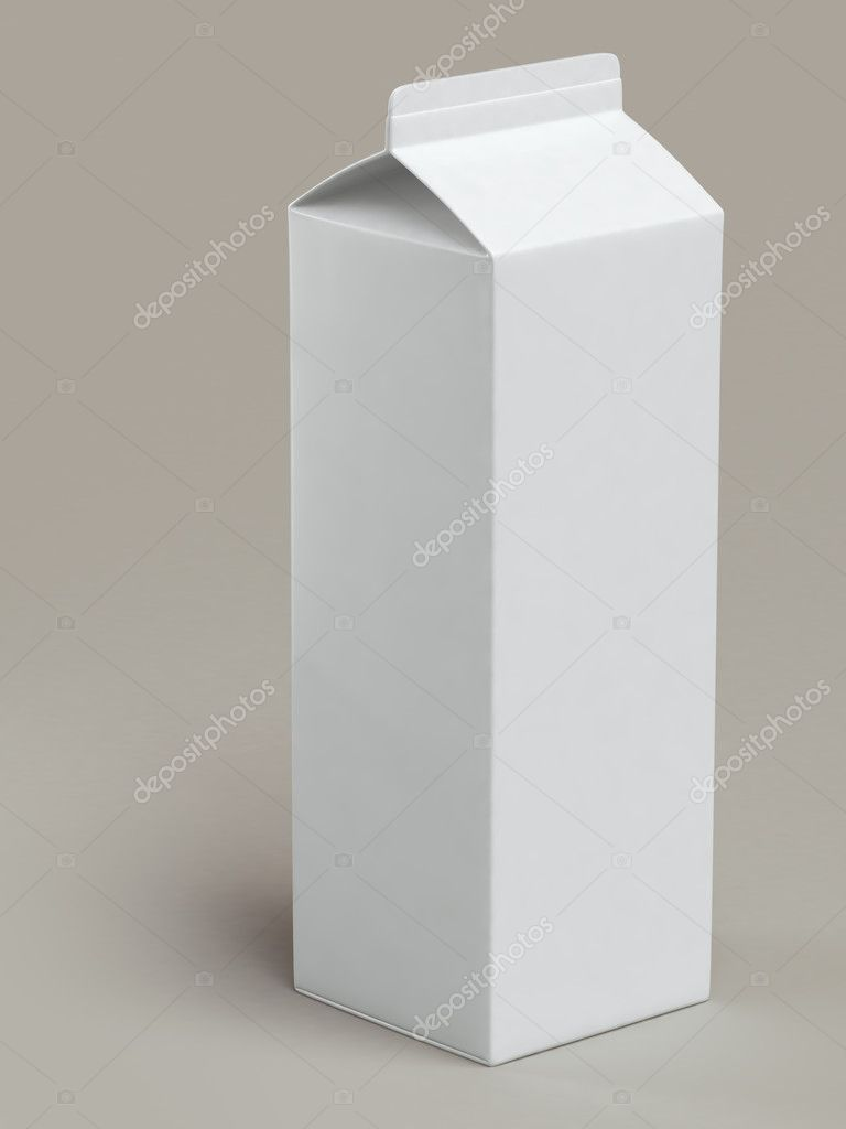 White milk box on grey background — Stock Photo #11256122