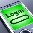 Stock Photo: Login