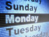 Monday — Stock Photo