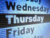 Thursday — Stock Photo