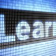 """Learn"" on screen — Stock Photo"