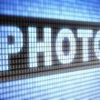 """Photo"" on screen — Stock Photo #12183212"