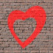 Love on brick seamless wall — Stock Photo