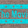 """movie"" on brick seamless wall — Stock Photo #12186503"