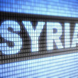 "Stock Photo: ""Syria"" on screen"