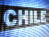 """Chile"" on screen — Stock Photo"