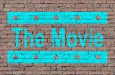 """The movie"" on brick seamless wall — Stock Photo"