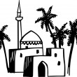 Stock Vector: Arabic houses