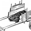 Old cart — Vector de stock #11532546