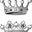 Beautiful crowns — Stockvectorbeeld