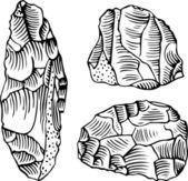 Stone tools — Stock Vector