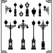 Royalty-Free Stock Vektorgrafik: Street lamps