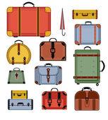 Retro travel bags — Stock Vector