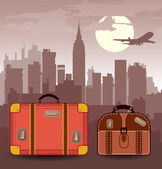 Suitcases for travel — Stock Vector