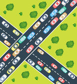 Highway traffic — Vector de stock