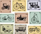 Bikes and cars — Vector de stock