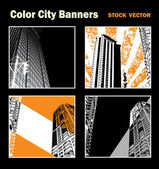 City banner — Stock Vector