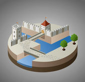 View of a medieval castle — Stock Vector