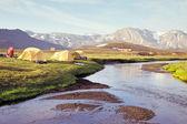 Campsite at Alftavatn, Iceland — ストック写真