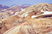 Rhyolite mountains, Iceland — Stock Photo