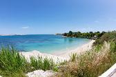 Beautiful coast on the Blue Sea, siracusa, sicily, italy — Stock Photo