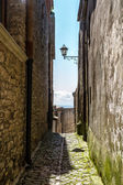 View of ancient road in Erice — Stock Photo