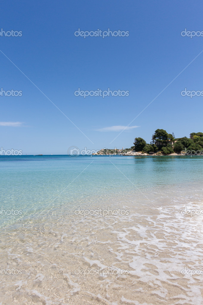 Beautiful coast on the Blue Sea, siracusa, sicily, italy  Stock Photo #11656529