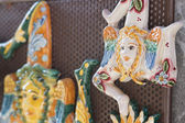 Una trinacria in ceramica — Foto Stock