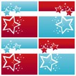 Stock Vector: American colored stars backgrounds