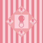 Pink baby pacifiers background — Stock Vector