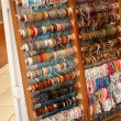 A shop display of bracelets — Stock Photo