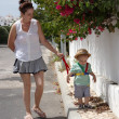 Mum and baby walking — Stock Photo #11840960