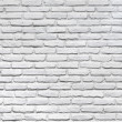 Stock Photo: White brick wall for background