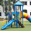 Stock Photo: Playground on green grass and outdoor