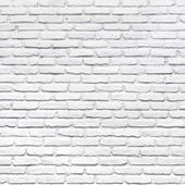White brick wall for a background — Stock Photo