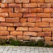 0ld brick wall — Stock Photo