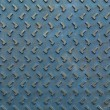Texture of blue rusty steel floor plate for background — Stock Photo