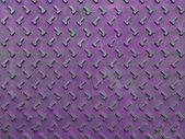 Tekstury i fioletowe tło zardzewiały stalowe płyty na tle — Zdjęcie stockowe