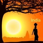 India-4 — Stock Vector