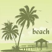 Beach-38 — Stock Vector