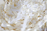 Fabric Wedding doves — Stock Photo