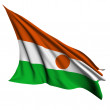 Niger flag render illustration — Foto de Stock